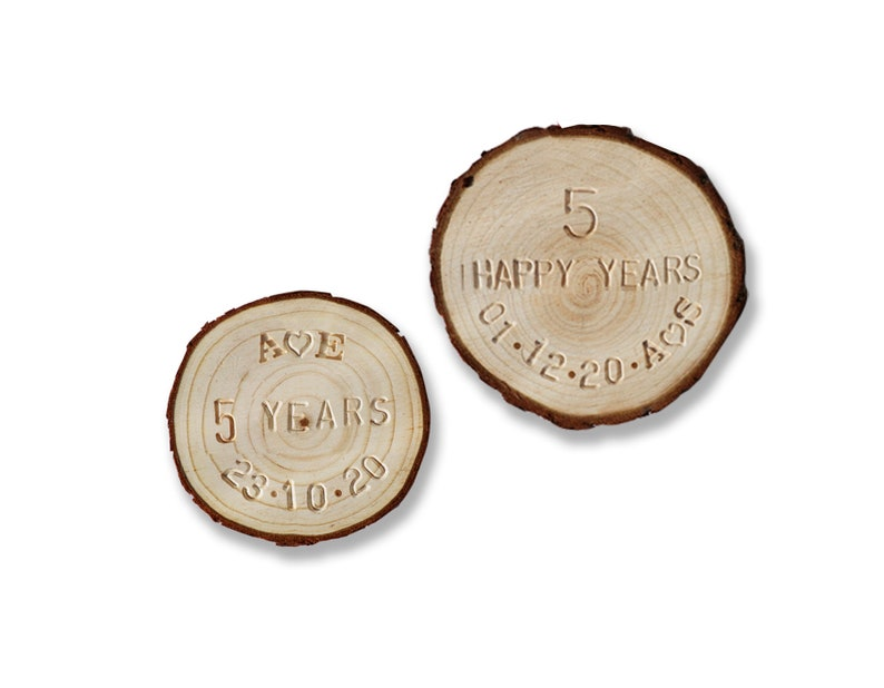 5th Anniversary Wood UNFRAMED 5th anniversary present husband wife fifth wedding anniversary gift Married 5 years gift