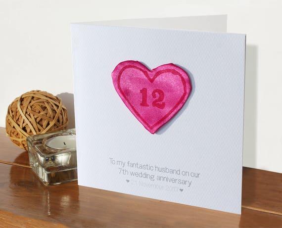 12th Wedding Anniversary Card Silk Anniversary