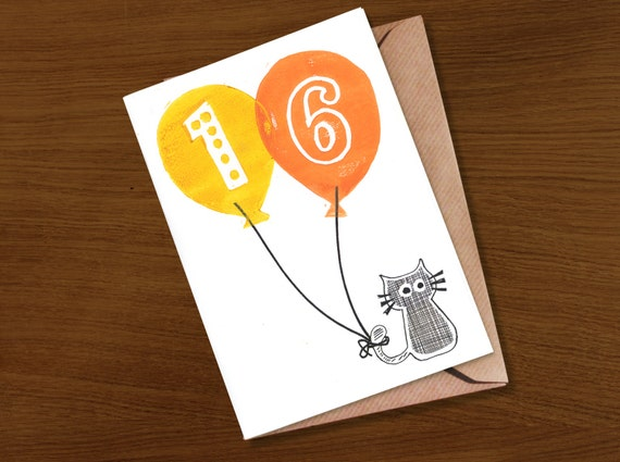 Birthday Card For Teenager 16th