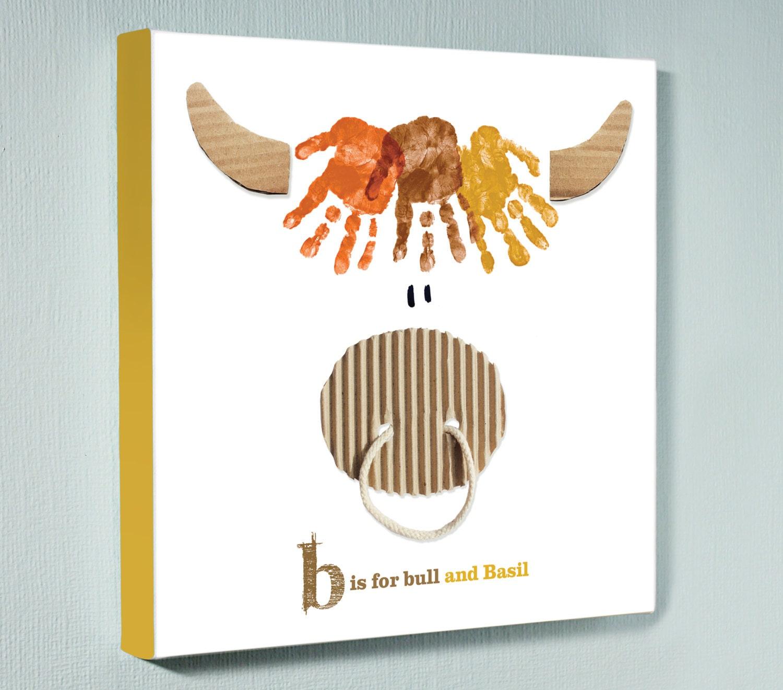 Handabdruck Kunst Kinder Geschenk personalisierte | Etsy