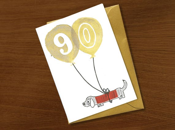 90th Birthday Card 90 Years Special