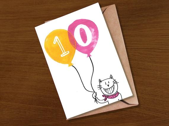 Age 10 Birthday Card 11 12