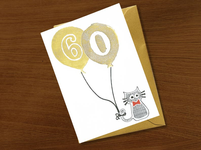 60th Birthday Card 60 Years Sixty Old