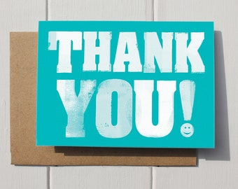 Thank you teacher | Thank you card | Bold thank you message | best teacher card | wedding thank you card | typographic card message