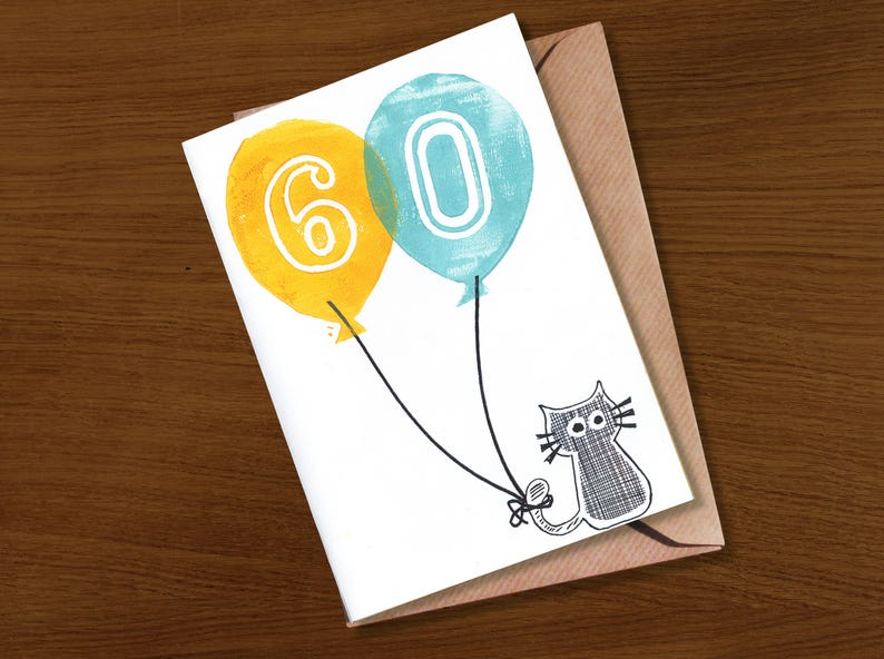 60th Birthday Card 60 Years Today Special