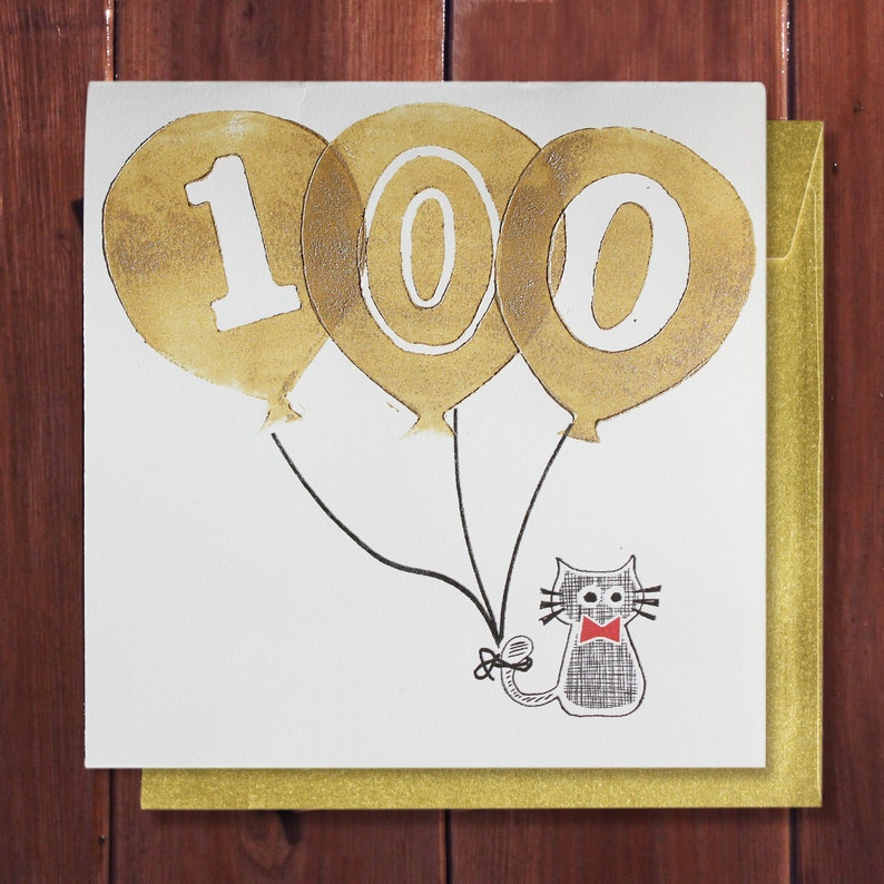 100th Birthday Card 100 Years Age Special