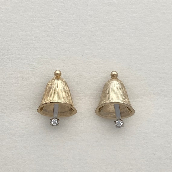 Vintage Christmas Bell Earrings, Christmas Earring