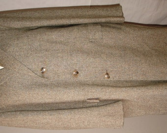 Vintage Wool Tweed 50's 60's Men's Palm Beach Tailored in USA Long Over Coat Winter Minor Damage - As Found - Reclaimed!