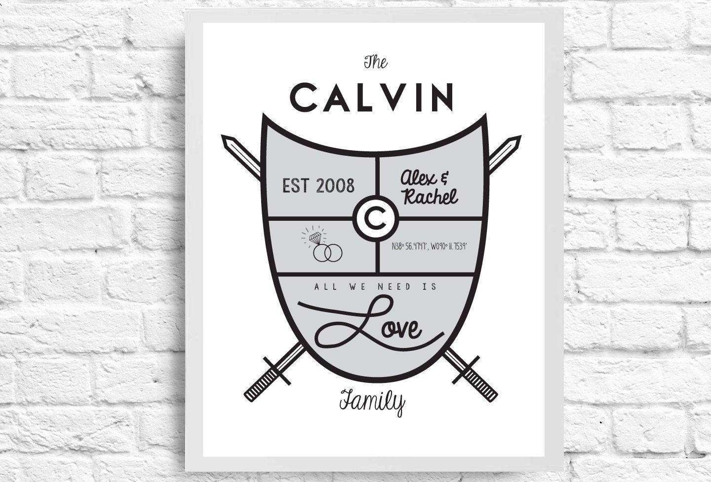 7 Modern Family Crests - Brown Moose Design & Photography