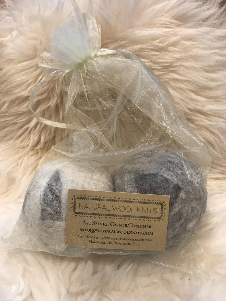 Wool dryer balls xl size felted balls Canadian handmade image 0