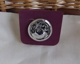 Caroline Emmons Winsome Pin / Pendant 1044   Vintage, Silvery, New