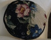 Dollhouse Miniature Micro Petit Point Pillow Black and White