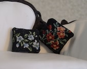Dollhouse Miniature Petit Point Pillows Bright Garden Pair