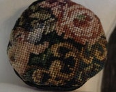 Dollhouse Miniature Micro Petit Point Pillow Plenty of Pattern