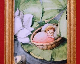 Dollhouse Framed Stamp; Thumbelina