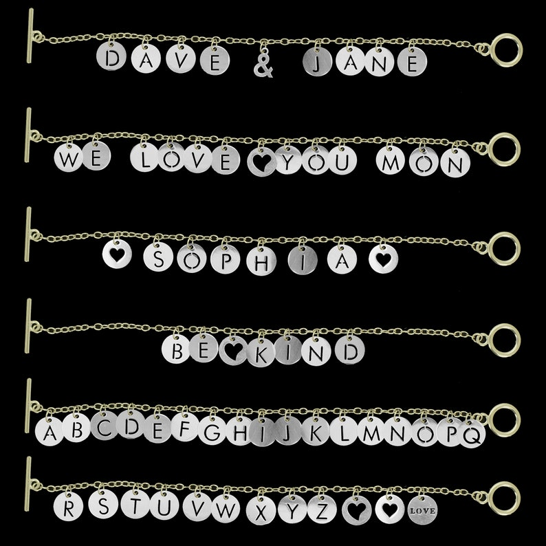 Any 10 Letter 12mm Flat Round Alphabet A to Z Letter 304 Stainless Steel Charms Pendants for DIY Bracelet Necklace Earrings Jewelry Making