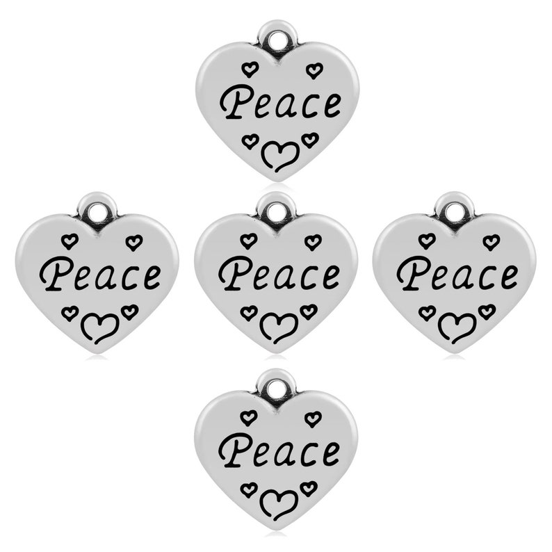 Heart Charm//Pendant 304 Stainless Steel Silver 16mm  2 Charms Accessory Crafts