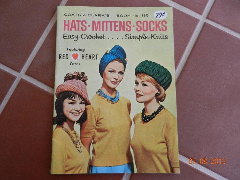 52f26be0e02 Coats   Clark s Hats.Mittens.Socks Easy Crochet Simple