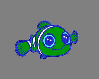 Nemo Fish Applique Embroidery Designs - Instant Download Applique + Filled Stitches Design 782