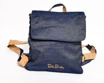 3d5e4acc0b Vintage 90 s Denim Betty Barclay Mini Backpack
