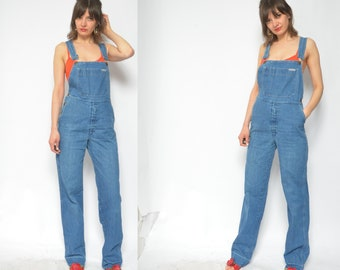 1aec9274b30 Blue Denim Overalls   Vintage 80s Oversized Jean Overalls   Jumpsuit - Size  Small