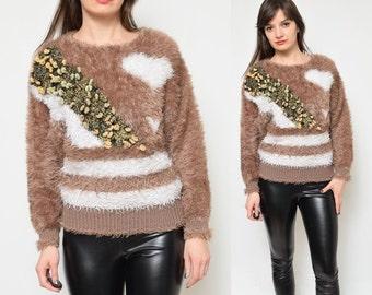00ec7de1e Brown fuzzy sweater