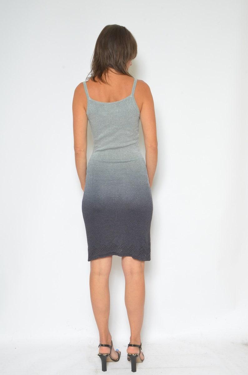 Ombre Knit Dress  Vintage 90s Strappy Sleeveless Short Mini Sundress Size Small
