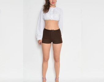 Vintage 70's Brown Jersey Shorts
