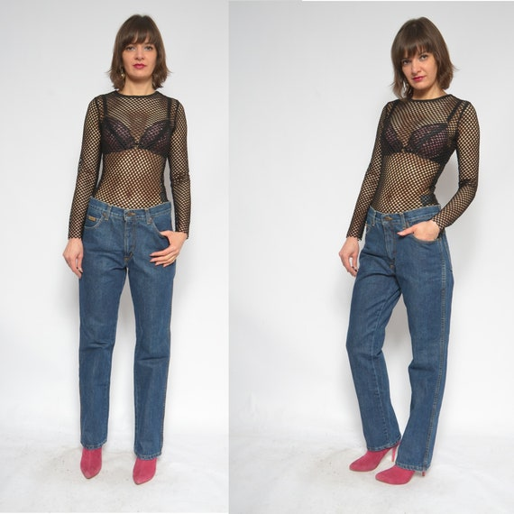 Wrangler Blue Denim Jeans / Vintage 90's Dark Blue