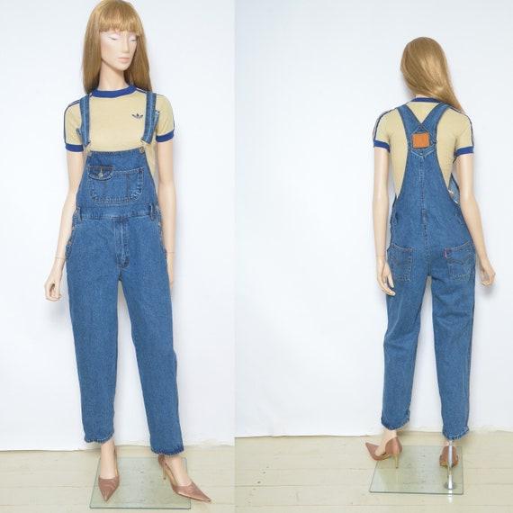 Blue Denim Overalls / Vintage 90s  Jean Overalls /