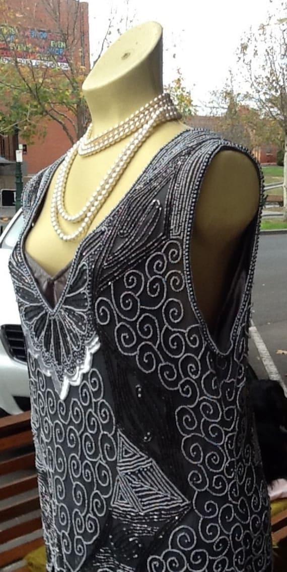 1920's Sterling Beaded Flapper Dress
