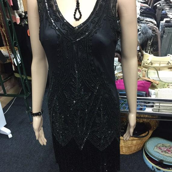 1920's Black Charleston Flapper Dress