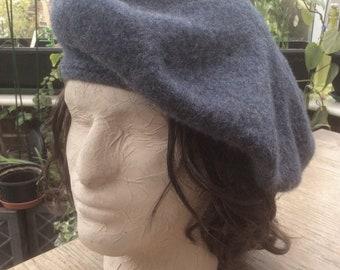 d30696721670f A Scottish Tam -o-shanter in a dusty grey bluepure new wool