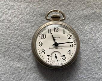 Vintage Westclox Scotty Mechanical Wind Up Pocket Watch
