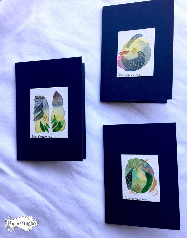 Painted Cards Art Cards Painting Hand Painted Abstract Art Notecards 6 Pieces Hand Painted Notecards Watercolor Notecards