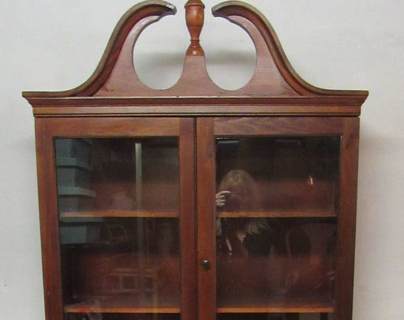 Secretary Bookcase Desk ribbon mahogany