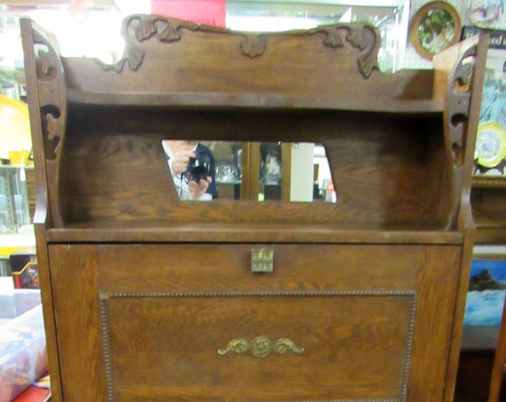 Oak Secretary Bookcase
