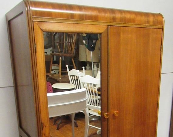 Art Deco Waterfall Armoire or closet