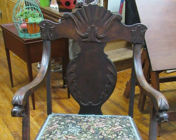 Antique Rocking Chair with carved detail