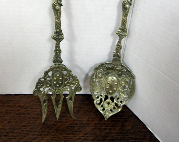 Italian Baroque Serving fork and spoon