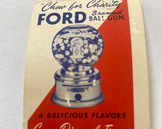 Ford gum disposal tissues