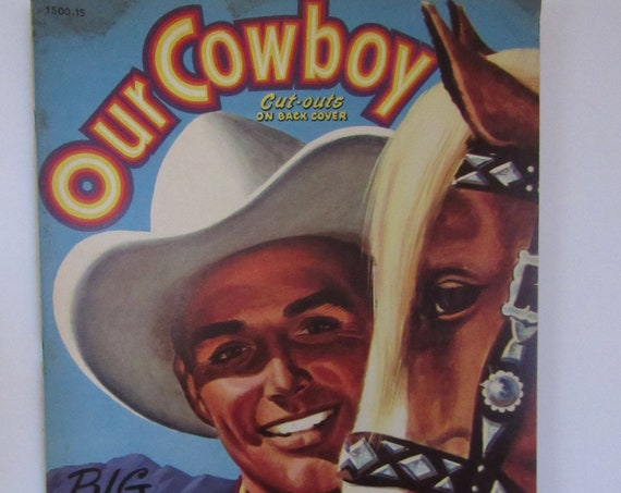 Our Cowboy Color Book with cut-outs  unused