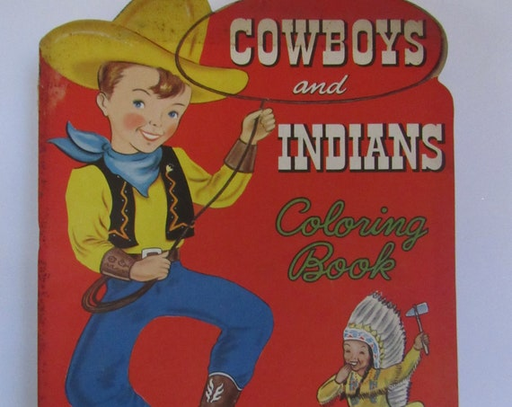 Cowboys and Indians Color Book unused