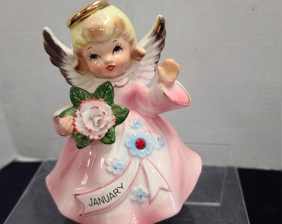 Lefton Musical Angel January figurine