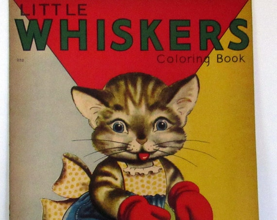 Little Whiskers  big color book unused