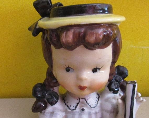 Girl head vase