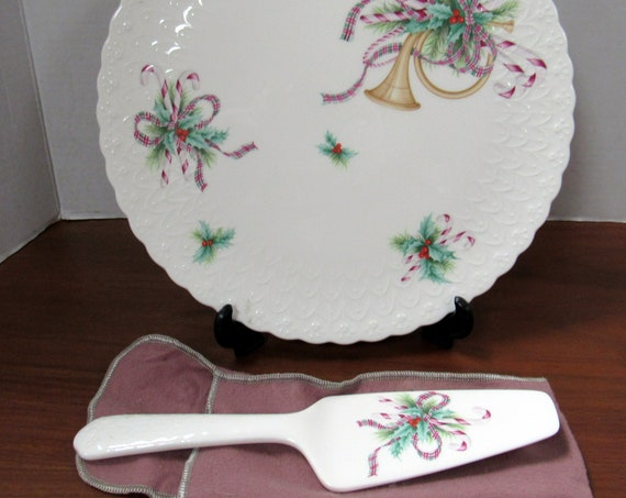 Mikasa Christmas serving platter and cake server