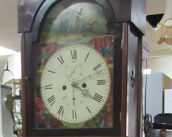 Antique Grandfather Tall Case Clock Braveheart William Wallace