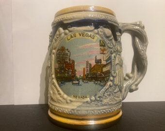 Las Vegas Souvenir Tankard Vintage Stein Mug