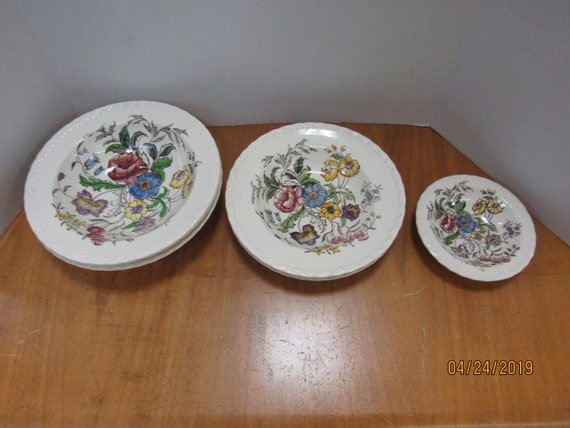 May Flower bowls  by Vernon Kilns